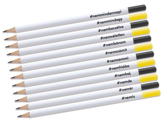 Kreatív ceruza - #NEMcerka - 12 darabos szett