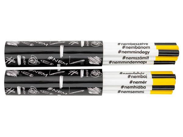 Kreatív ceruza - #NEMcerka - 12darabos szett