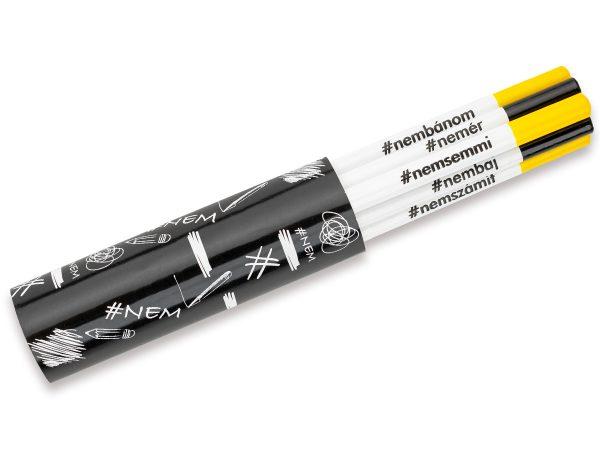 Kreatív ceruza - #NEMcerka - 6 darabos szett
