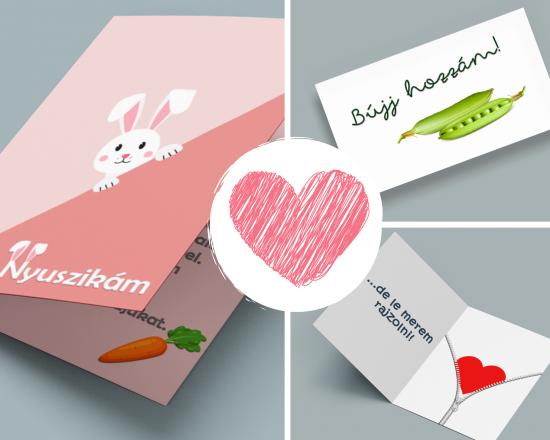 Valentin-napi képeslapok