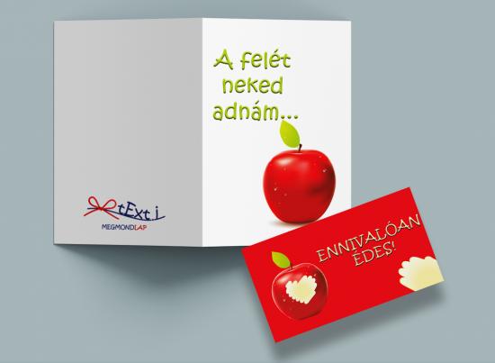 Valentin-napi képeslap - Texti - A felét neked adnám 2