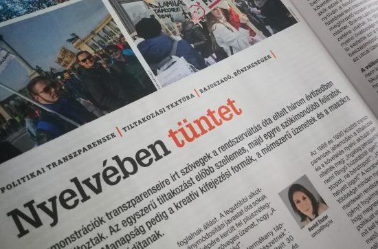 Nyelvében tüntet - HVG - Benkő Eszter